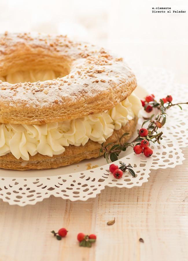 Cómo hacer roscón de Reyes de hojaldre. receta con fotos del paso a paso y sugerencias de presentación. Trucos y consejos de elaboración....