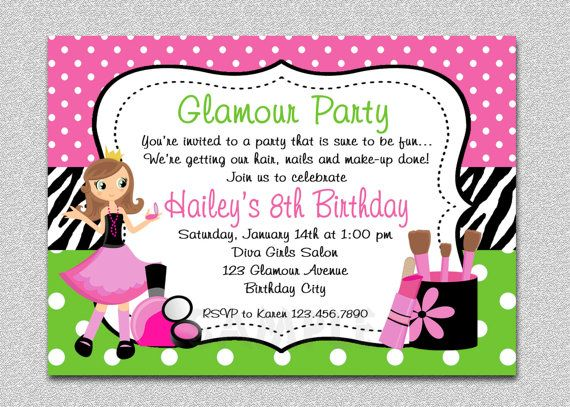 11 best Glamour Girl Birthday images on Pinterest Birthday party - fresh birthday invitation from a kid