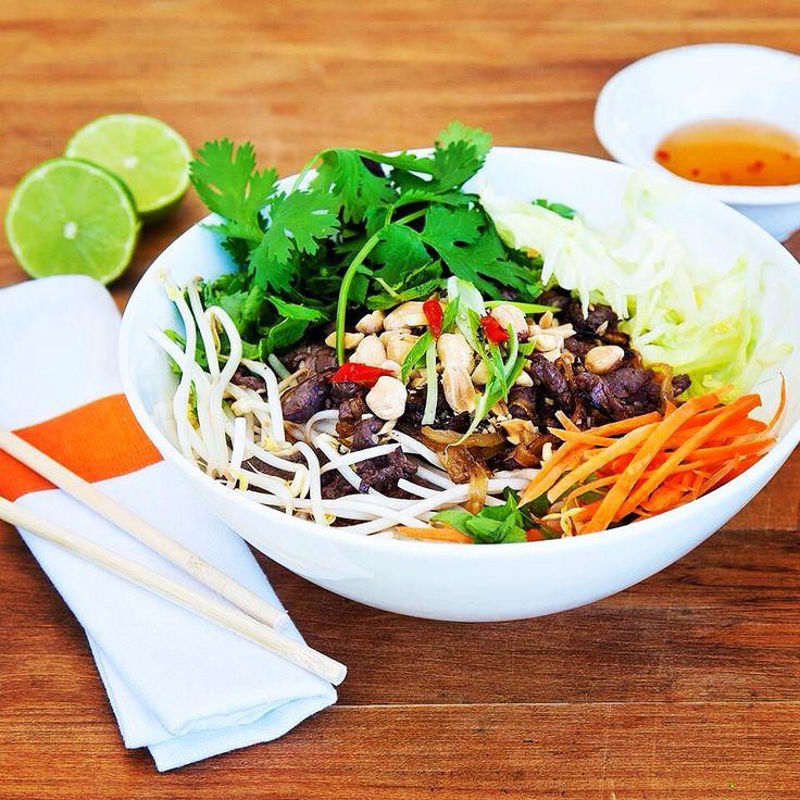 Viet Q Foods - beef stir fry with vermicelli