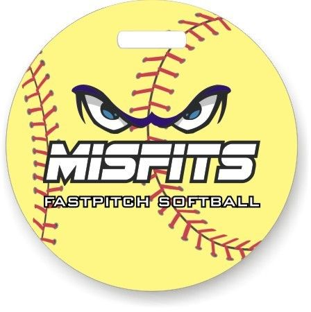 Dixie Midwest -    Personalized Softball Bag Tags - personalized with name and number on back.