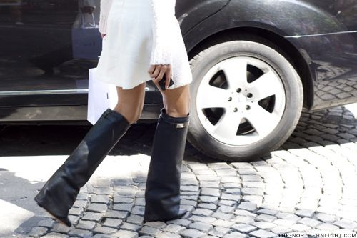 Northern Light-Paris Haute Couture-2-Givenchy BootsFashion Ideas, Leather Boots, Black Leather, Foldover Boots, Givenchy Bootsbought, Fashionstreet Style, Boots Shoes, Black Givenchy, Bags Shoes