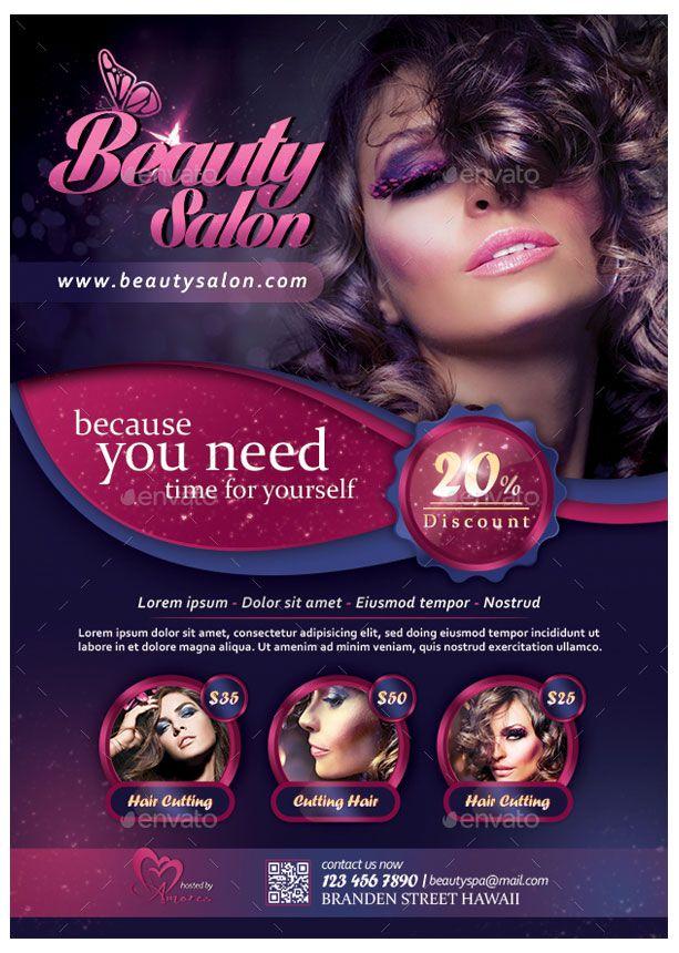 A4 Flyer Alpertornaci Beauty Flyer Beauty Salon Beauty Salon