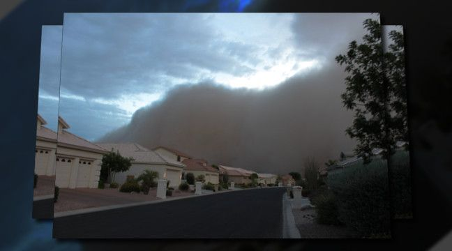 'Sun Lakes Arizona Monsoon Dust Storm 2011'.