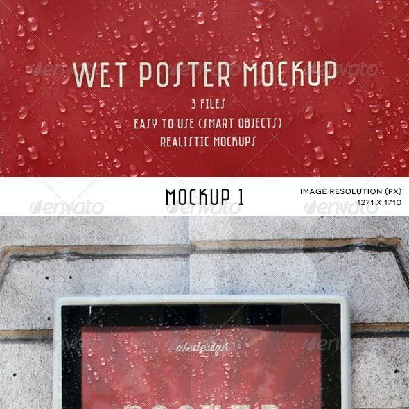 Wet Poster Mockup Di 2021