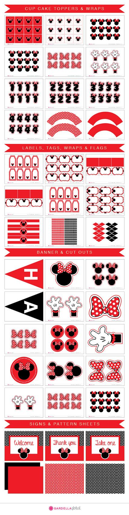 Minnie Mouse Party Printables