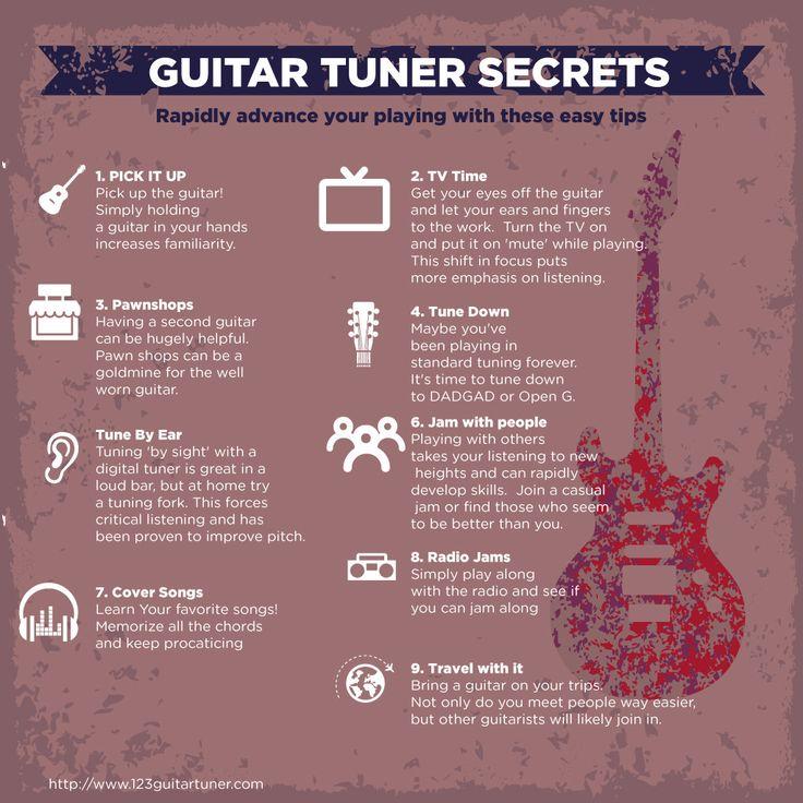 Guitar Tuner Secrets #infographic #Guitar #GuitarTuner