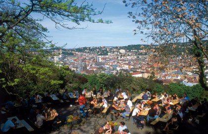 Biergarten auf der Karlshöhe Stuttgart