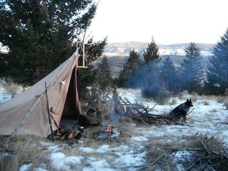Old style bushcraft camp site - Woodsrunner on BushcraftUSA