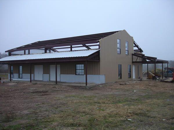 100 best steel buildings images on pinterest for Metal barn homes in texas