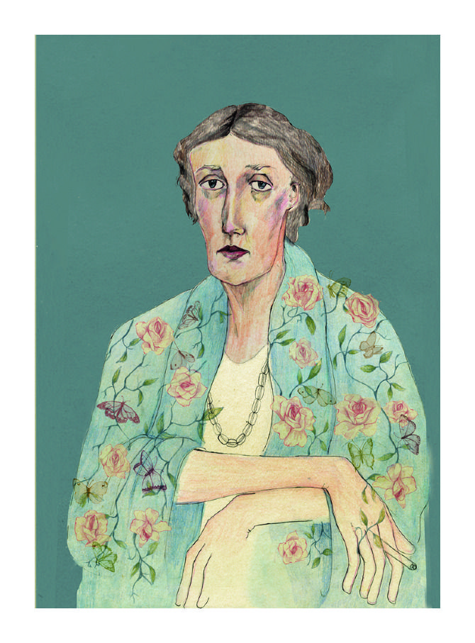 Virginia Woolf - Bett Norris Illustration