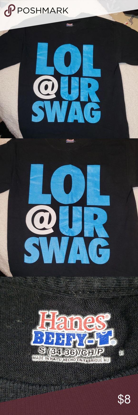 LOL at your Swag T-Shirt ☆ Black shirt that says LOL @ UR