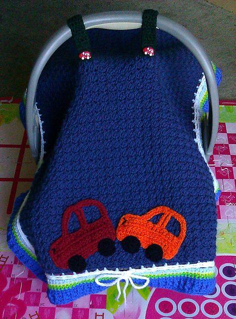 Manta para cubrir carrito porta bebés. Basic Car Seat Tent pattern by Maria Vazquez ~ free pattern