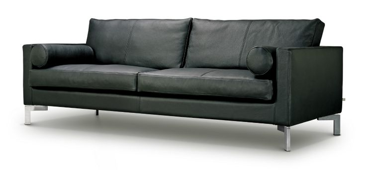 SLICE SOFA & SECTIONAL Comes in 6 different sofa sizes, sectional and with chaise. Seat cushion filling is down-top consisting of a highly elastic polyurethane foam core with a wrap of 100%down and small duck feathers sewn into a ribbed feather proof cambric casing.  Back cushion filling is poly down sewn into a ribbed, feather proof cambric casing. Slice is available with fabric or leather upholstery.