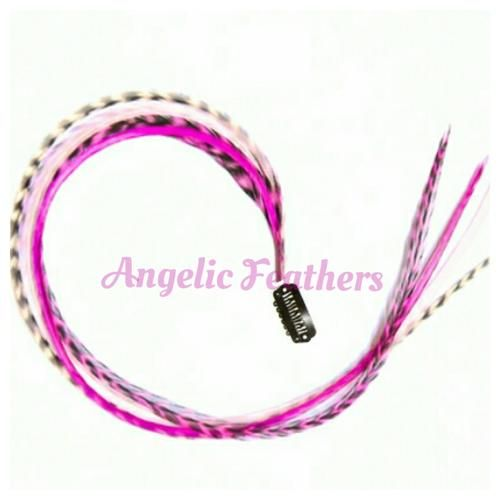Buy FEATHER CLIP INS - PINK RUSH for R105.00