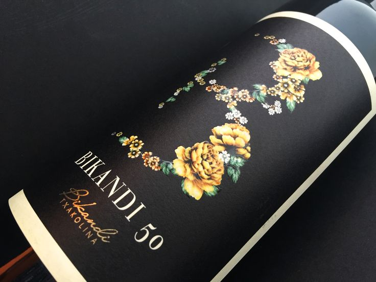 Diseño para Bikandi 50... 50 años de experiencia... Bikandi Txakolina
