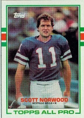 1989 Topps #42 Scott Norwood RC - Buffalo Bills (RC - Rookie Card) (Football Cards) by Topps. $0.88. 1989 Topps #42 Scott Norwood RC - Buffalo Bills (RC - Rookie Card) (Football Cards)
