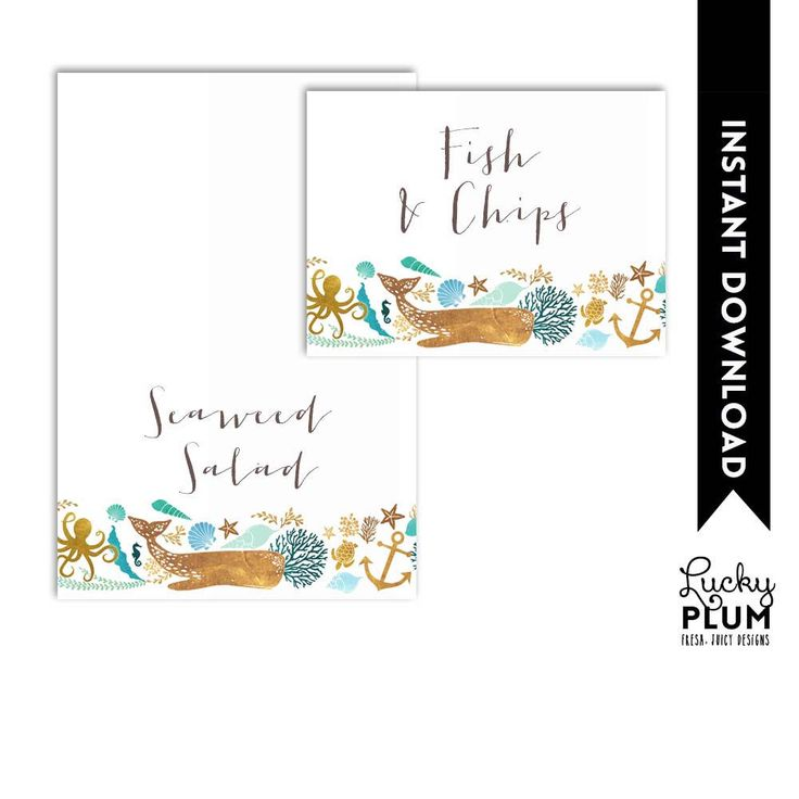 Whale Food Tent Card / Whale Place Card / Whale Name Tag / Nautical Food Tent Card / Anchor Starfish Seashells Printable WH01 by LuckyPlumStudio on Etsy https://www.etsy.com/listing/577253558/whale-food-tent-card-whale-place-card
