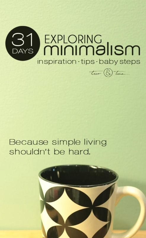 Minimalism challenges what you thought you knew about what you wanted in life. Minimalism is about having the space and freedom in your life for what really matters. | inspiration, tips, baby steps - because simple living shouldn't be hard