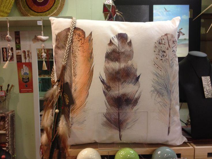 Feather cushion.