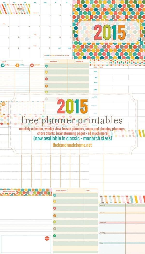 The handmade home 2018 planner calendars