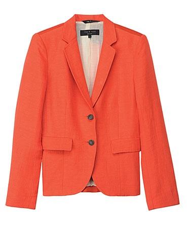 Summer Tweed Two-Button Blazer: Tweed Blazer, Tangerinestat Colors, The Office