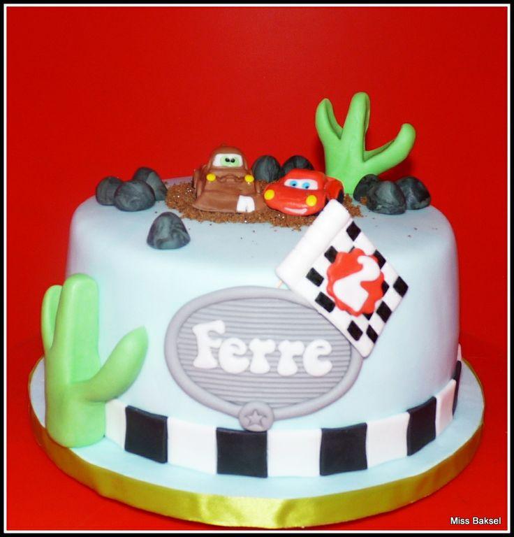 cake, cars, lightning mcqueen, bliksem mcqueen, mater, takel, disney