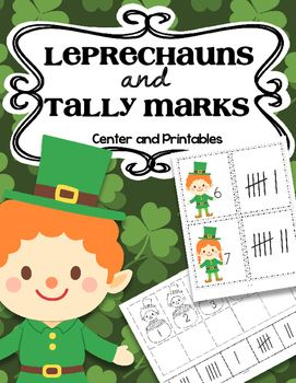 Leprechaun tally marks 0-20 includes:   • Center – match the leprechaun number cards to the tally marks cards. The number cards and the tally mark cards can also be arranged separately in sequence. In color.  • 4 differentiated cut and paste printables to match the tally marks to the correct leprechaun number.  • Stick puppet/room décor • 2 coloring pages of leprechauns