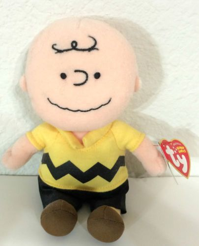 Ty-Beanie-Babies-Peanuts-Musical-Charlie-Brown-Theme-Song-Stuffed-Plush-Doll-New