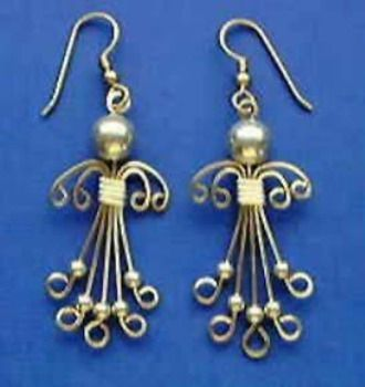 Angel Earrings Jewelry  Pattern No. 66 - 12 Steps and 16 Photos -