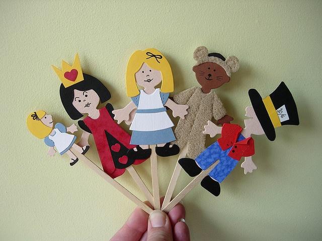 Quot Wonderland Quot Stick Puppets By Maximum Rabbit Designs Via
