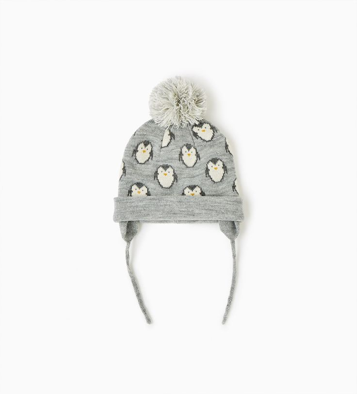 Penguin hat with pompom-Hats, scarves and gloves-ACCESSORIES-BABY GIRL | 3 months-3 years-KIDS | ZARA Canada