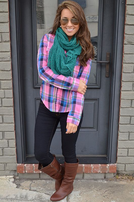 Take Me To The Country Top: Pink Plaid