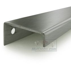 linnea hardware 3 inch centers inch squared drop down back mounted edge pull in satin stainless steel  additional view