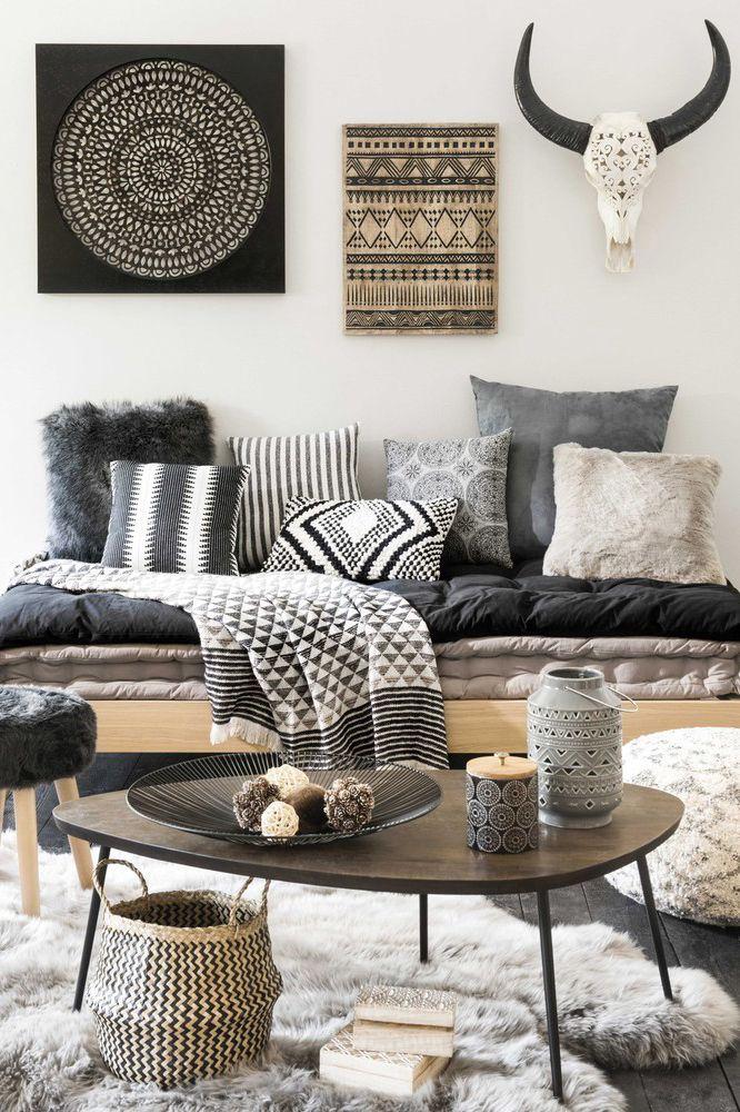 Black and white hygge room | Maisons du Monde