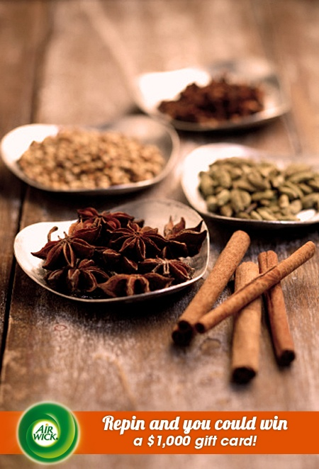 #Cinnamon and spice makes #fall baking so mouthwatering and fragrant. Visit link for sweepstakes information: https://www.airwick.us/repin_to_win.php