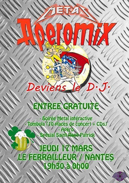 St Patrick : Mix (Rock / Metal) participatif et interactif au Ferrailleur ! - http://www.unidivers.fr/rennes/st-patrick-mix-rock-metal-participatif-et-interactif-au-ferrailleur/ -  -  Le Ferrailleur Café Concert Nantes