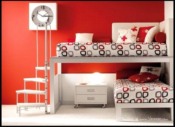 Mod kids bunk bed with spiral staircase--say what!