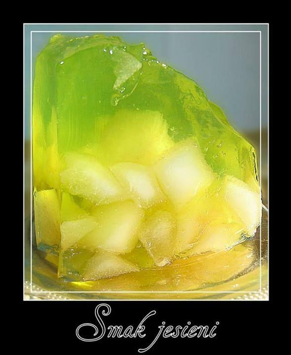 Proste a pyszne, połączenie kwaskowatego smaku galaretki i słodycz chrupiącej gruszki z posmakiem słońca