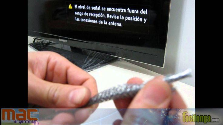 Antena TV digital casera, rápida y economica TDA HD