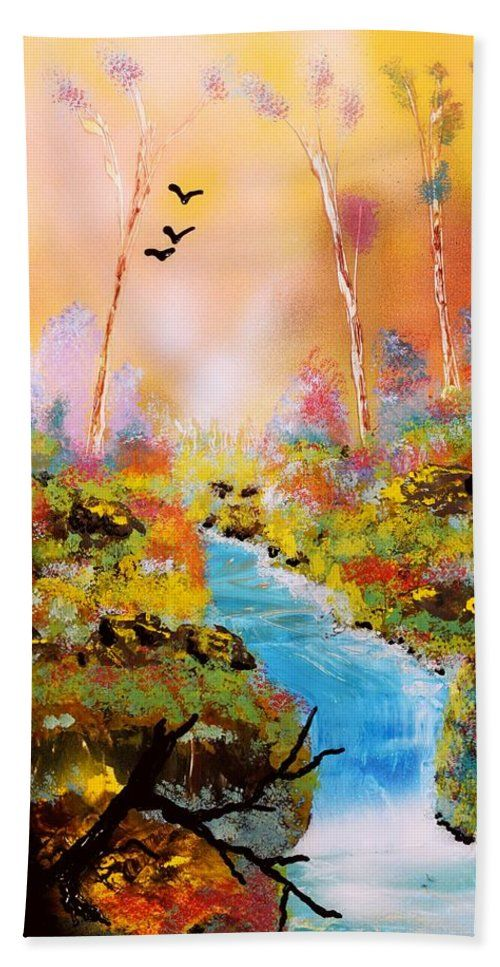 Land Of Oz Beach Towel Printed with Fine Art spray painting image Land Of Oz by Nandor Molnar (When you visit the Shop, change the size, orientation and image size as you wish)