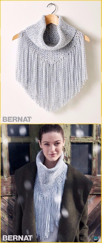 Crochet Infinity Scarf Cowl Neck Warmer Free Patterns | Tejido en ...