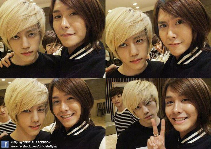 Kwangjin (Bassist, Leader) and Cha Hun (Guitarist) of N. Flying!