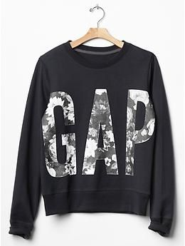 Gap floral logo sweatshirt