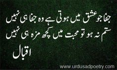 allama iqbal poetry in urdu love - Google Search