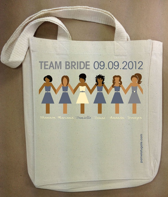 Perfect tote for bridesmaid get-together.