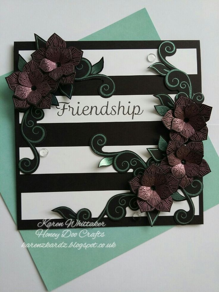 Flower Veins stamp and die and Pearl embossing powders from Honey Doo Crafts  #dtsample #honeydoocrafts #flowerveins #flowers #embossingpowder #stamping #stamp #cardmaking #card #creative #craft #ilovetocraft #creativity