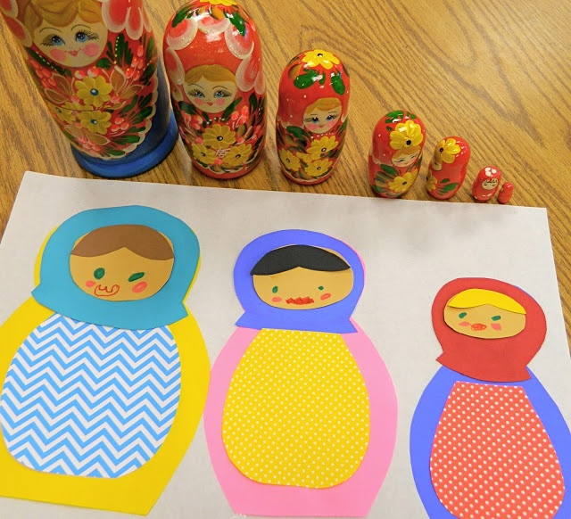 the vintage umbrella: Nesting doll art project