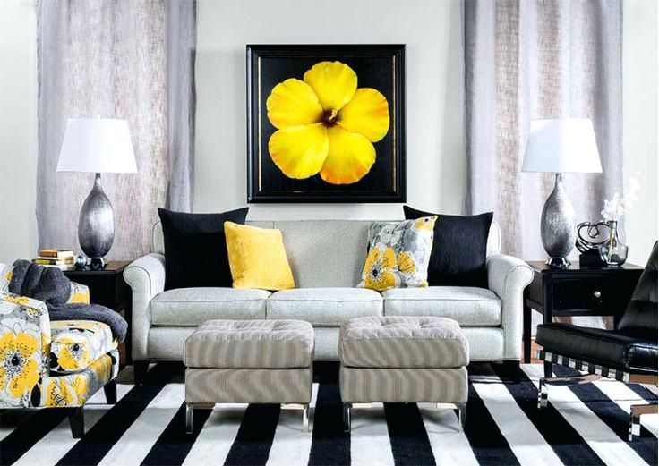 Yellow And Black Theme Living Room Grey And Yellow Living Room Yellow Living Room Yellow Decor Living Room