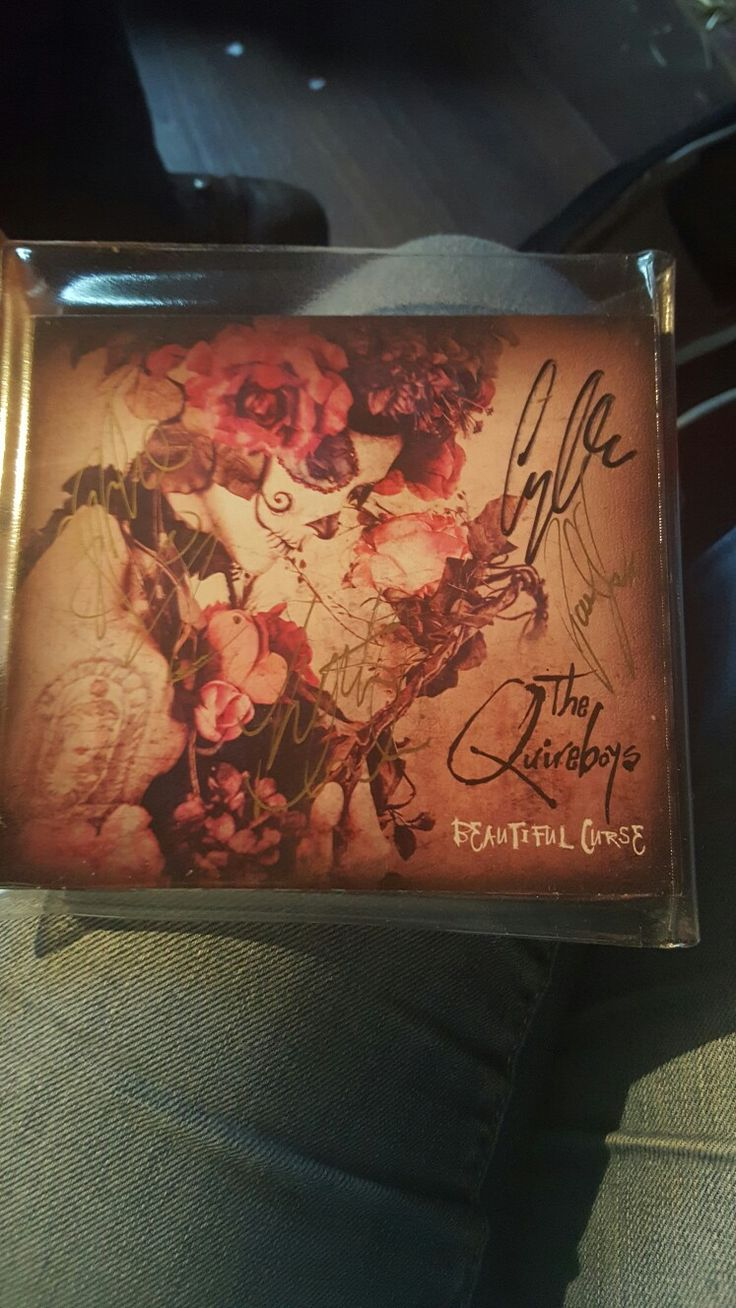 My signed copy of Beautiful Curse such a fab album