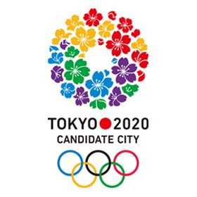 2020年オリンピック・パラリンピック東京招致のロゴ:5色のサクラ   ロゴストック